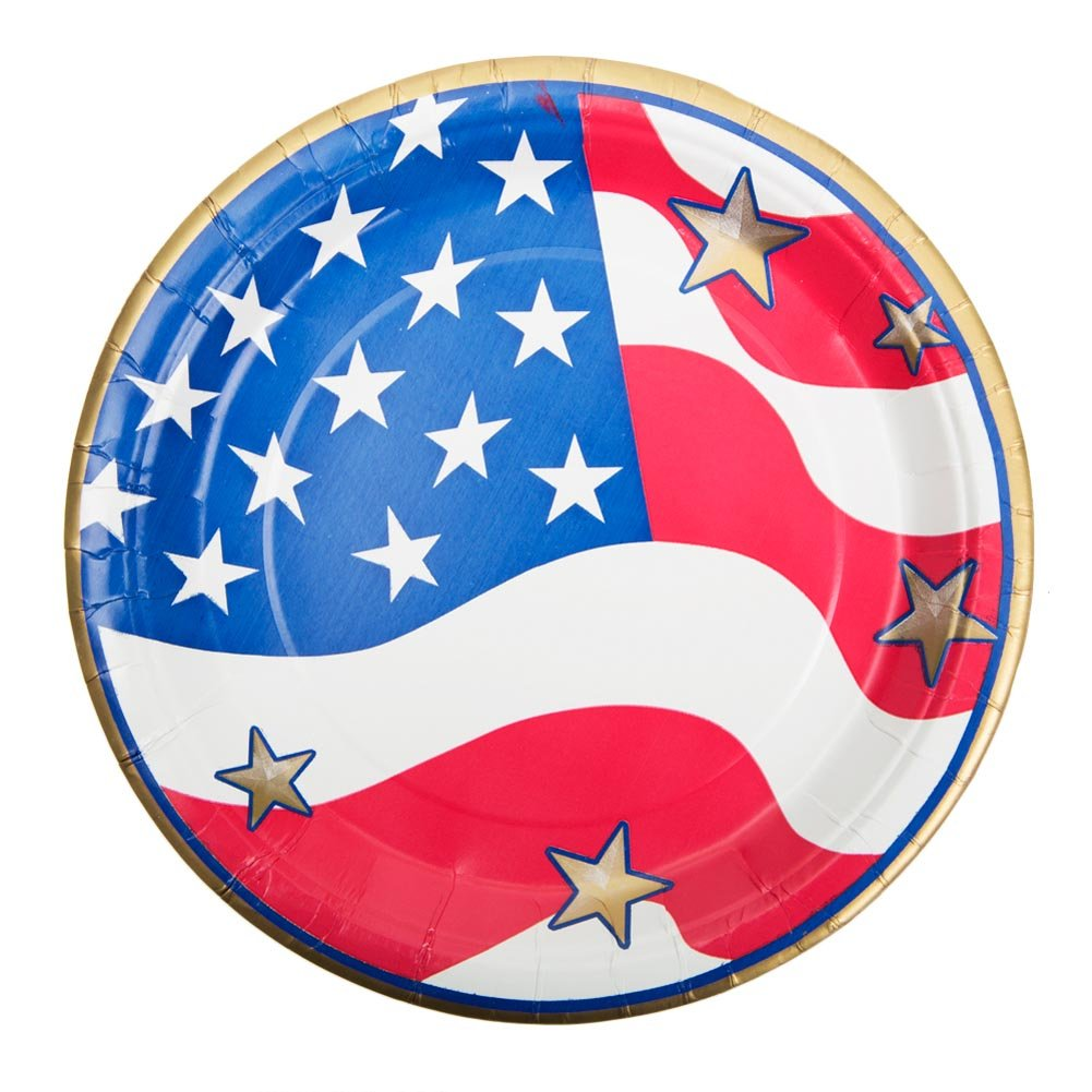 Have A Star Spangled Celebration with Patriotic Tableware! The party doesnu0027t start until everything is starred and striped including the tableware!  sc 1 st  Fourth Of July Wikii & Fourth of July Party Plates   Fourth Of July Wikii