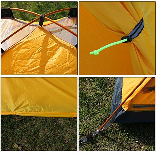 GEERTOP® 2-Personen 4-Jahreszeiten Aluminiumstangen Wasserdichten Camping Kuppelzelt – 140 x 210 x 115 cm – Ideal für Camping, Beim Klettern und Jagen - 6