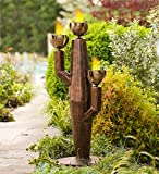 Small Metal Cactus Outdoor Torch