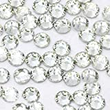 USA -- 1000 Pcs 3mm Clear Rhinestones Round Flatback 14-facet (High Quality)