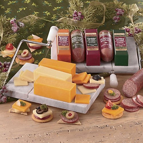 The Swiss Colony Marble Cheese Board & Slicer