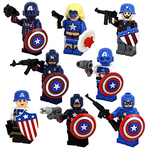 [TEAM CAPTAIN AMERICA (8 MINI-FIGURES)] (8 People Costumes)