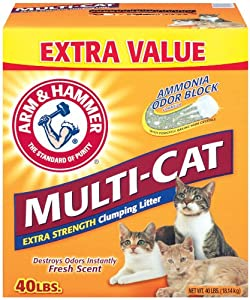 Arm & Hammer Multi-Cat Strength Clumping Litter, 40-Pound