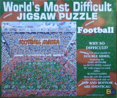 World's Most Difficult Jigsaw Puzzle - Football by Buffalo Games