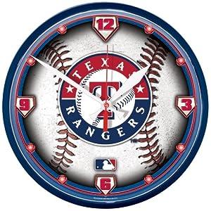 Wincraft Texas Rangers Round Clock by WinCraft