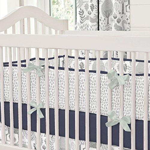 Carousel Designs Navy and Gray Woodland Crib Bumper (Carousel Crib Bumper compare prices)