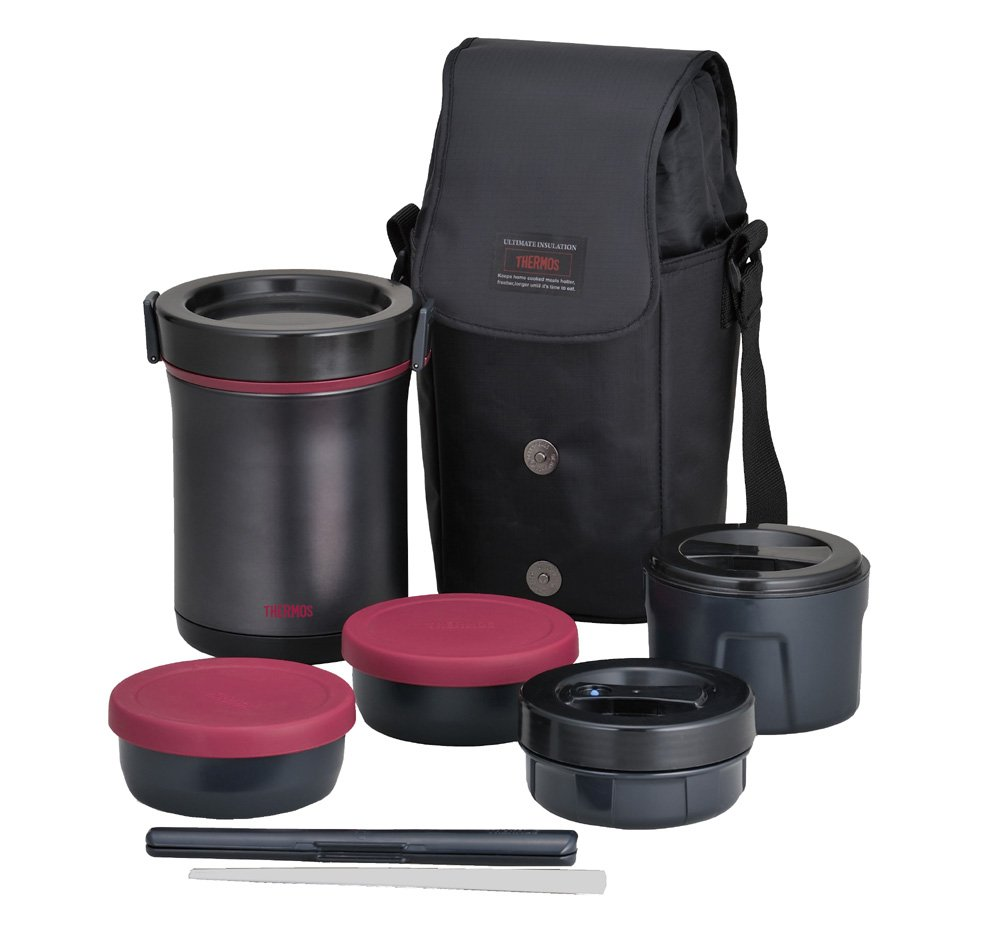THERMOS Hot Lunch Heat Retention Lunch/Bento Box Set JBE 1600F(Japan Import)       Customer review and more information