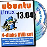 Book Cover For Ubuntu 13.04, 4-discs DVD Installation and Reference Set, Ed.2013