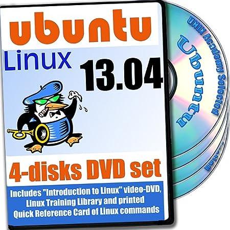 Ubuntu 13.04, 4-discs DVD Installation and Reference Set, Ed.2013