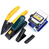 Optical Fiber Tool Kit Cold Connection tool Optical Fiber Stripping Cleaver for SUMITOMO with 36000 Cleaves and Fiber Optic Drop Cable Fiber Stripper CFS-2 Double Port Hole (Tamaño: Medium)