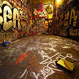 Ouyida Graffiti space 10\'x 10\' CP Photography Background Computer-Printed Vinyl Backdrop TA25