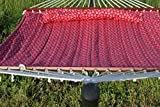Exclusive Large Heavy Duty Double Quilted Hammock with Pillow - Red Anchor