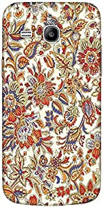 Snoogg Floral Pattern Cream Solid Snap On - Back Cover All Around Protection ...