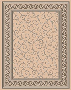 Amazon 8 x11 Indoor Outdoor Rug Beige Gray 8 x