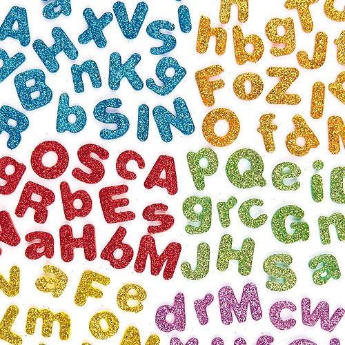 Lettere Autoadesive in Schiuma con Brillantini confezione da 850 PDF