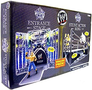 Wrestlemania 25 Stunt Action Ring with Entrance Stage: Toys & Games