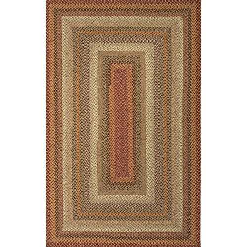 2' x 3' Desert Sand, Ochre, Burgundy and Brown Braided Pumpkin Pie Area Throw Rug