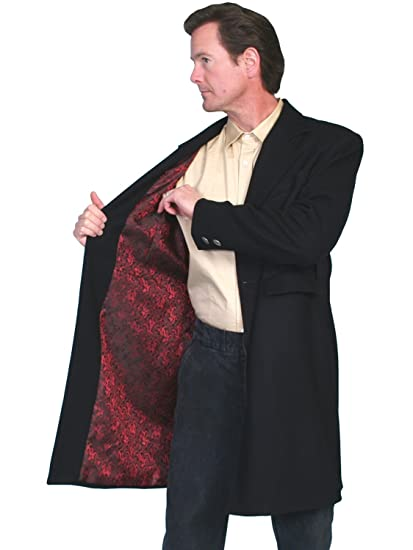 Wahmaker By Scully Mens Old West Dragon Lining Frock Coat  AT vintagedancer.com