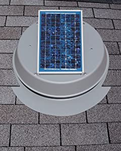 Solar Attic Fan 10-Watt - Natural Light with 25-year Warranty!