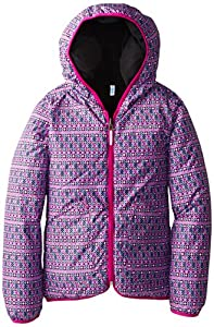 Columbia Big Girls'  Dual Front Jacket ,Groovy Pink Print, Large
