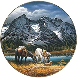 For Purple Mountain Majesties by Terry Redlin 8.25 inch Decorative Collector Plate