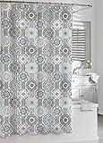 Kassatex Urban Tiles Shower Curtain, Blue/Grey, 72 by 72-Inch