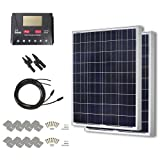 HQST 200 Watt 12 Volt Polycrystalline Solar Panel Kit with 30A PWM LCD Display Charge Controller (Tamaño: PWM-30A)