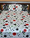 Famacart Double Bedsheets Flower Printed Wedding Bedsheets Pillows