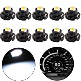 shunyang Car White T4.2 Neo Wedge 2835 Led for A/C Dash Climate Gauge Lights Heater Control Bulbs Lamp Light 10 pcs (Tamaño: T4.2)