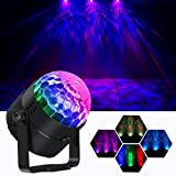 OPPSK DJ Lights Disco Ball with Multicoloured Water Wave Lighting Effects by IR Remote for Christmas Home Party
