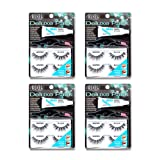 Ardell False Eyelashes Deluxe Pack Kit Wispies Black 4 Pack (Tamaño: Deluxe Pack Kit Wispies Black)