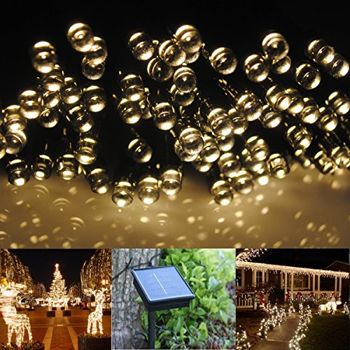 Cvlife 22M 200Led Warm White Solar Christmas String Fairy Lights 8 Modes (Change Automatically) For Outdoor Room Garden Home Party Decoration Waterproof