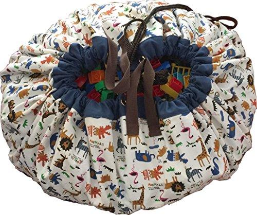 おもちゃ収納 FROSIKI For Toys【アニマルズ】/プレイマット/収納袋 おもちゃが10秒で片付く 素材:綿100% 150?