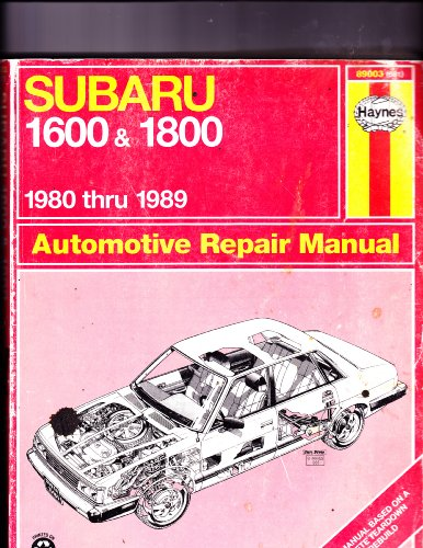 Subaru 1600 and 1800 1989 Automotive Repair Manual (Book No 681)
