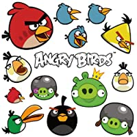 RoomMates RMK1794SCS Angry Birds Peel and Stick Wall Decals by York Wallcoverings