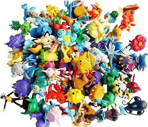 24 Random Pokémon Anime Action Figure Cupcake Toppers (Each One Unique)