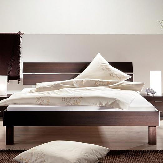 Doppelbett SVENJA in Wenge Dekor Breite 120 cm Liegefläche 120x200 Stutz-Steg Ohne Pharao24
