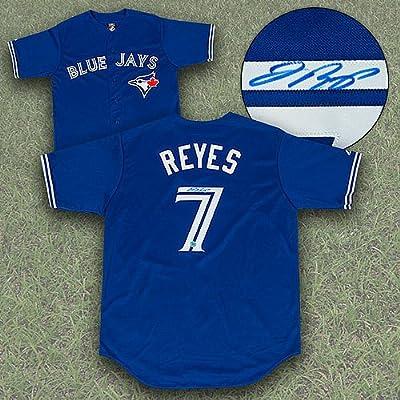 Jose Reyes Toronto Blue Jays Autographed MLB Baseball Jersey - Certified Authentic