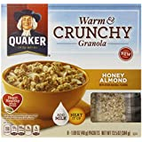 Quaker Warm and Crunchy Cereal, Honey Almond, 8-1.69 Packet (Pack of 6)