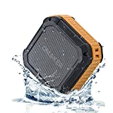[Best Outdoor&Shower Bluetooth Speaker Ever] Omaker M4 Portable Bluetooth 4.0 Speaker with 12 Hour Playtime for Outdoors/Shower (Orange)