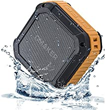 [Best Outdoor&Shower Bluetooth Speaker Ever] Omaker M4 Portable Bluetooth 4.0 Speaker with 12 Hour Playtime- Rugged Splashproof and Shockproof Wireless Bluetooth Speaker for Outdoors/Shower With NFC Tap & Play Technology (Orange)