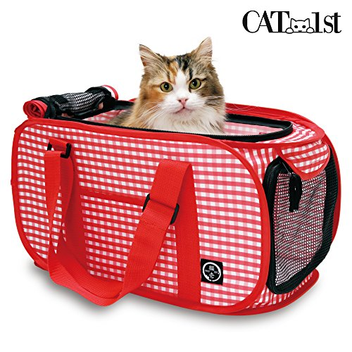 Cat1st Foldable Ultra Light Cat Carrier with Safety Net/Trip to the Vets