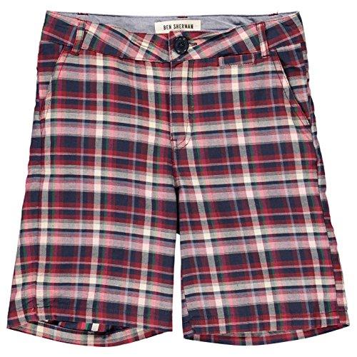Ben Sherman Ragazzi 90T Shorts Pantaloncini Estivi Pantaloni Navy 12-13 Yrs