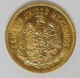 1955 MX Mexico 5 Pesos Gold Coin 5 Pesos About Uncirculated Detials