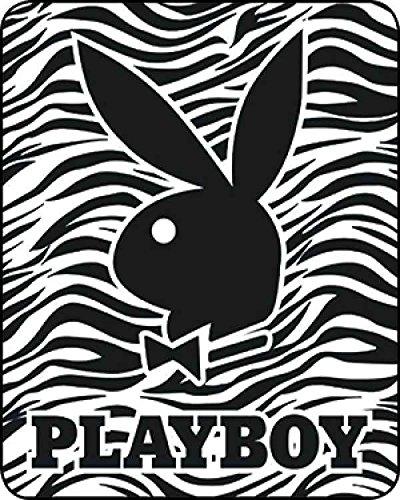 Playboy Bunny Heavy Weight Fuzzy Mink Blanket