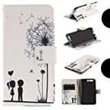 Huawei Honor7C/Nova2Lite/2018 Y7Prime Very Light Slim Print Painting Flip Card Slots Stand Wallet, WEIFA Cool Thin Cellphone Cover Case for Huawei Honor 7C/Nova 2 Lite/2018 Y7 Prime Dandelion Lovers (Color: !Lover, Tamaño: Huawei Honor7C)