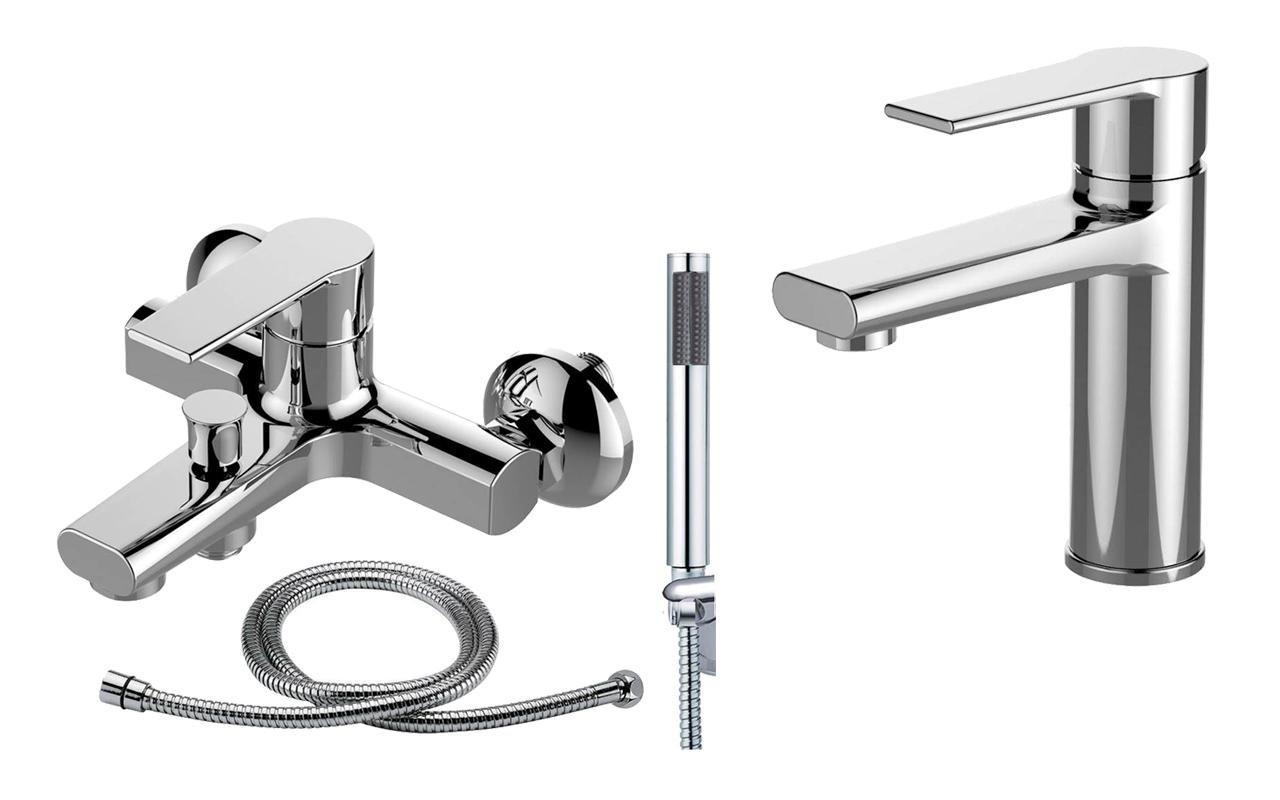 Bad Zimmer Dusche Waschtisch Wanne Duschkopf Schlauch Armatur Set (Brenz 41 DE)   Überprüfung und Beschreibung