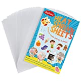 Auihiay 20 Pieces Sanded Shrink Plastic Sheets, Shrink Films Papers for Kids Creative Craft, 5.7 x 7.9inch / 14.5 x 20cm
