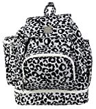 Kalencom Diaper Backpack, Leopard Black and White