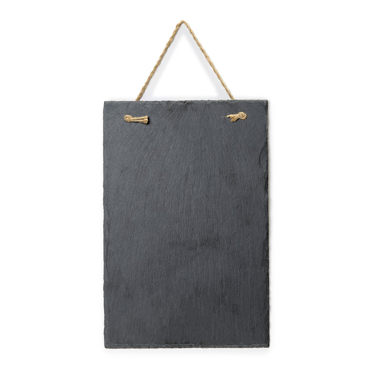 """Vintage Frameless Slate Chalkboard Sign (8""""x12"""") - Decorative Hanging Chalk Board for Rustic Wedding Signs, Kitchen Pantry & Wall Decor"""